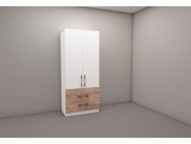 Двукрилен гардероб Калифорния мод. 3 с чекмеджета на супер цени
