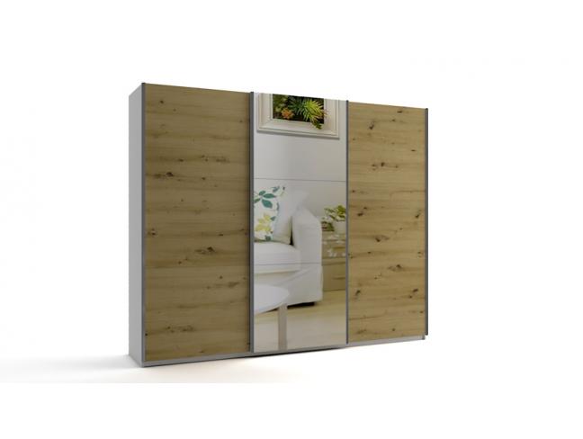 Гардероб с плъзгащи врати с огледало Еврика мод.10 на супер цени