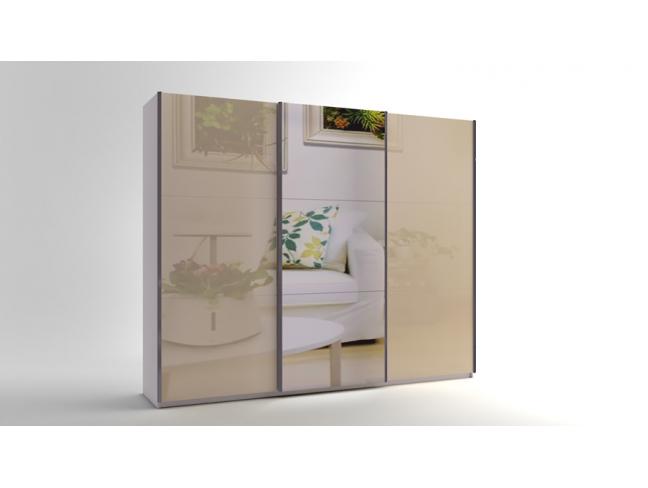 Гардероб с плъзгащи врати с огледало Еврика мод.10 МДФ на супер цени
