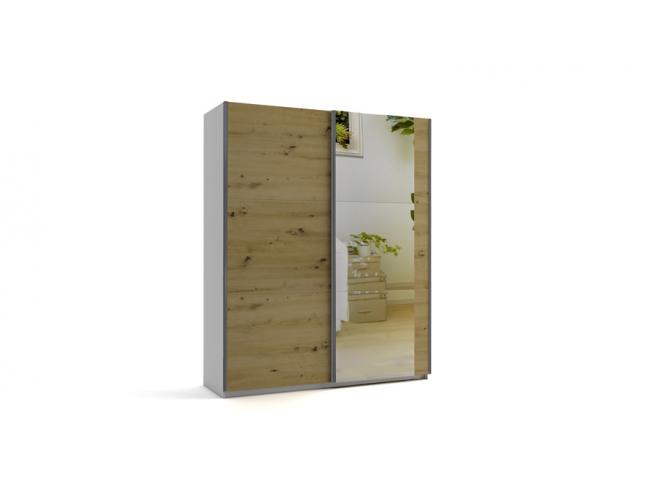 Гардероб с плъзгащи врати с огледало Еврика мод.6 на супер цени