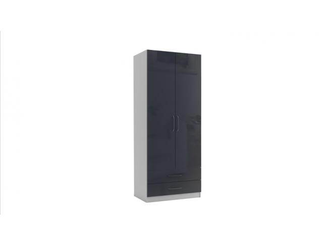 Двукрилен гардероб с чекмеджета Еврика мод.3 МДФ на супер цени
