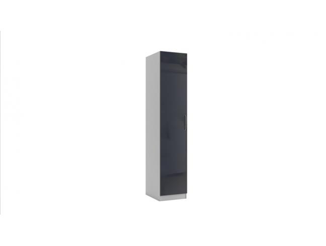 Еднокрилен гардероб Еврика мод.1 МДФ на супер цени