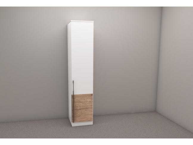 Еднокрилен гардероб Калифорния мод. 1 с рафтове на супер цени