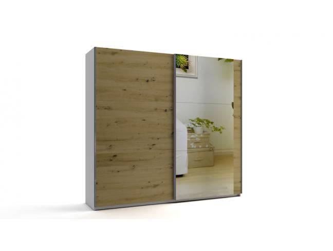 Гардероб с плъзгащи врати с огледало Еврика мод.8 на супер цени