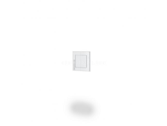 Врата надстройка Dress мдф бяло фладер на супер цени