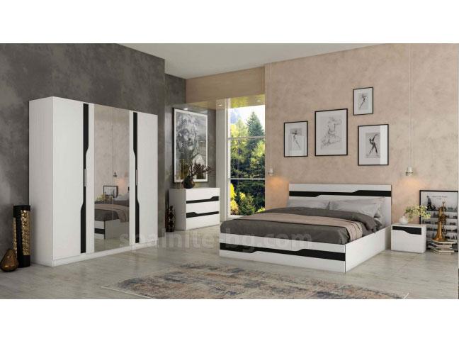 Спален комплект Алекс черно и бяло на супер цени