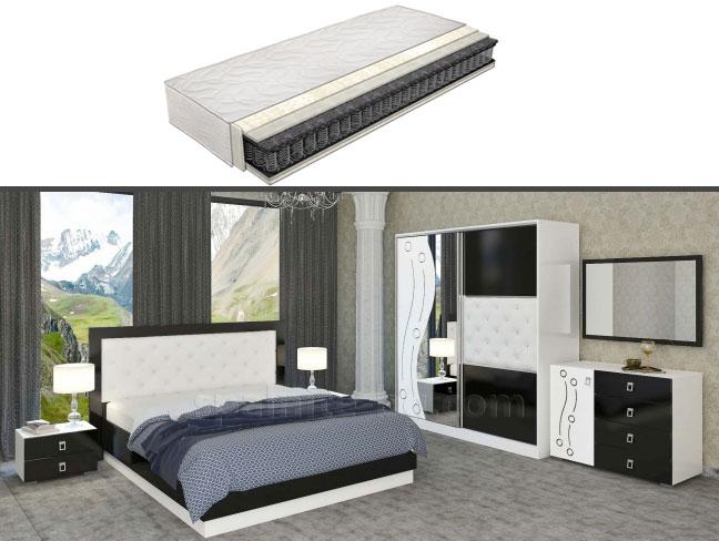 Спален комплект Кордоба с еднолицев матрак на супер цени