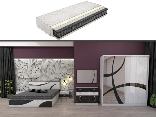 Спален комплект Офелия с еднолицев матрак на супер цени