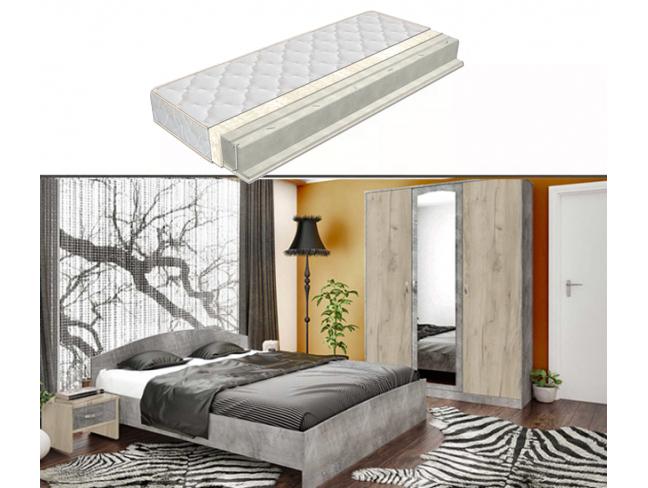 Спален комплект Сирена + еднолицев матрак Атина 164/190 на супер цени